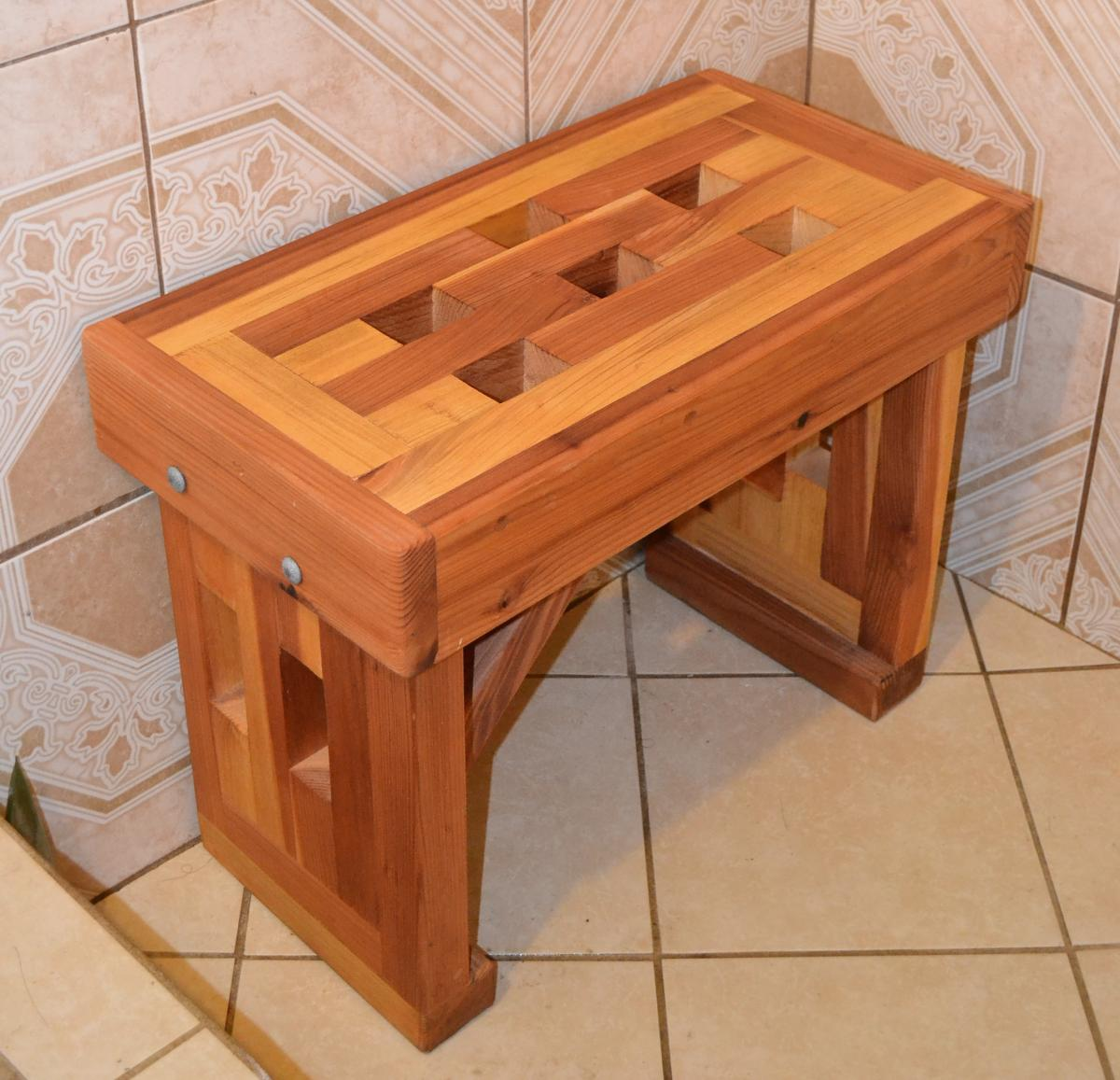 Wooden Shower Bench Small
