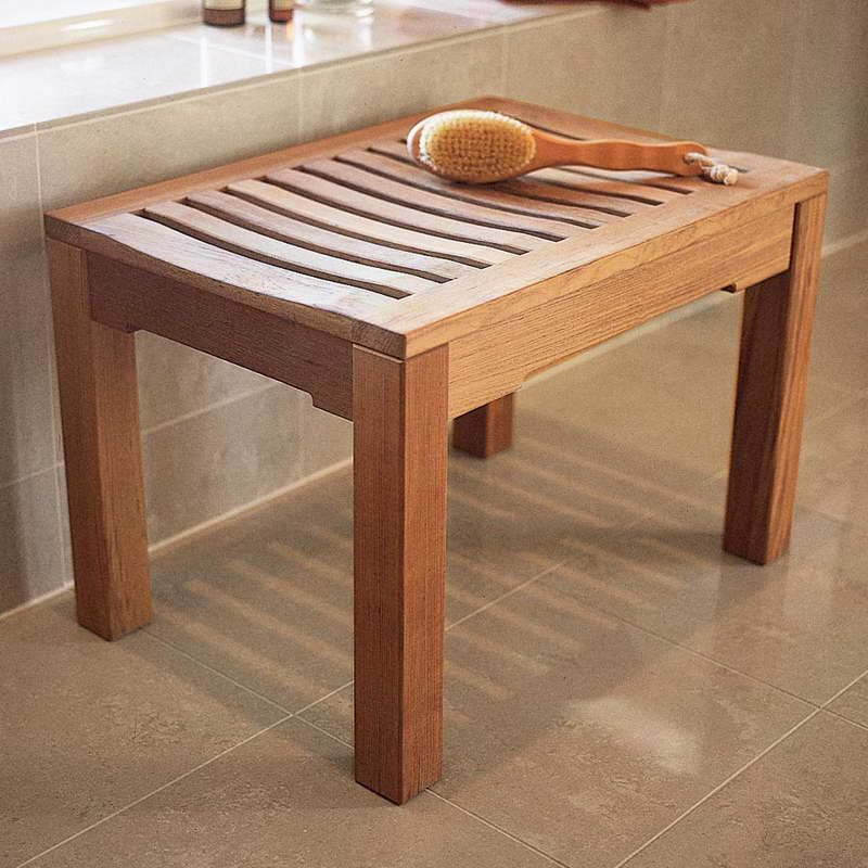 Wooden Shower Bench Teak