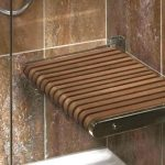 Wooden Shower Bench Wall