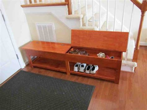 Picture of: Wooden Storage Bench Shoes