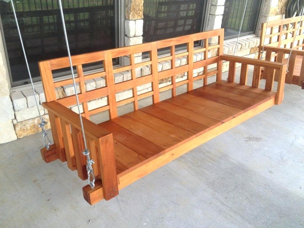 Picture of: Wooden Swing Bench Benefit