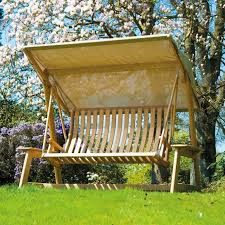 Picture of: Wooden Swing Bench Replacement Canopy