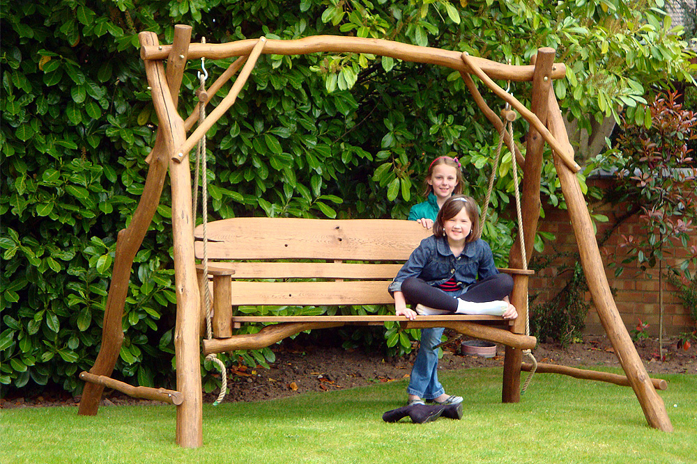 Picture of: Wooden Swing Bench for Garden
