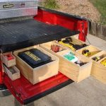 Wooden Truck Bed Storage Containers