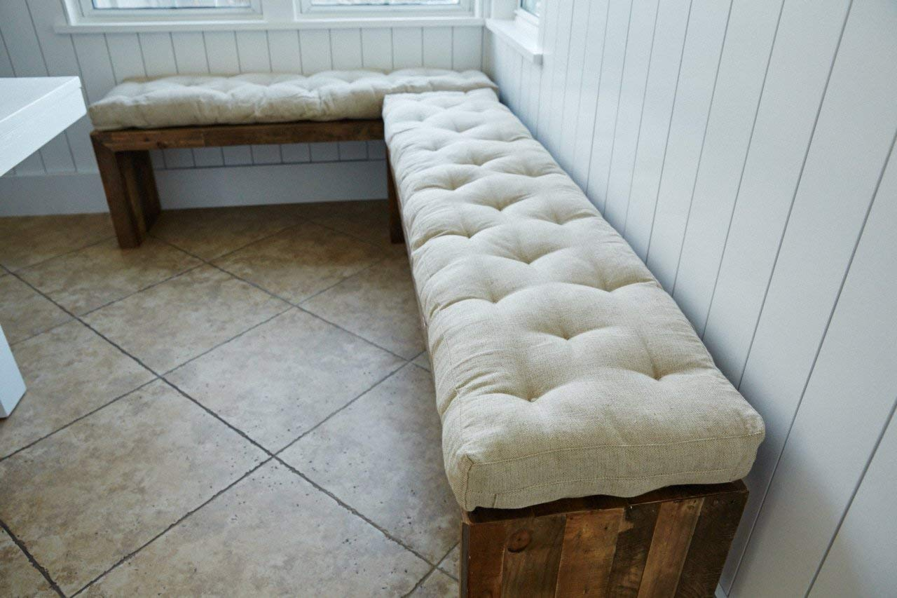 Wool Filled Dining Bench Cushion