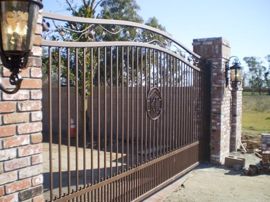 Picture of: Wrought Iron Fence Panels Gates
