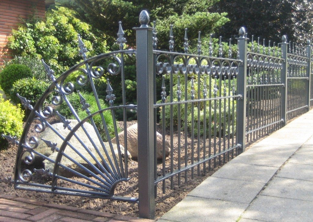 Picture of: Wrought Iron Fence Panels Model