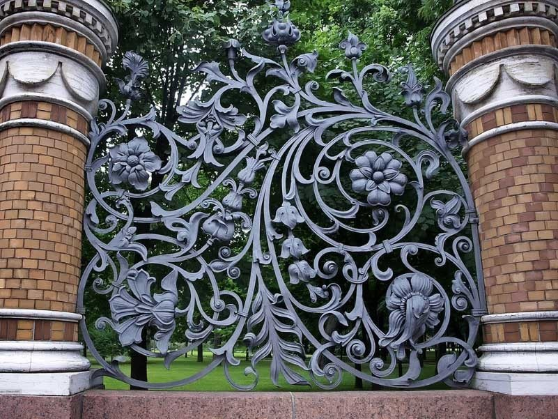 Picture of: Wrought Iron Fence Panels Modern