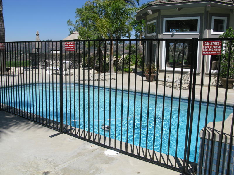 Picture of: Wrought Iron Fence Panels Pool