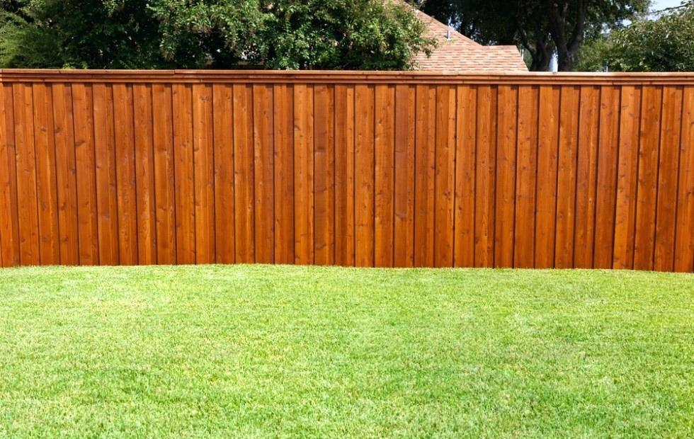 Yard Wood Fence Stain Colors