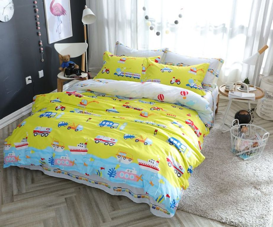 Image of: Yellow Bed Set Twin