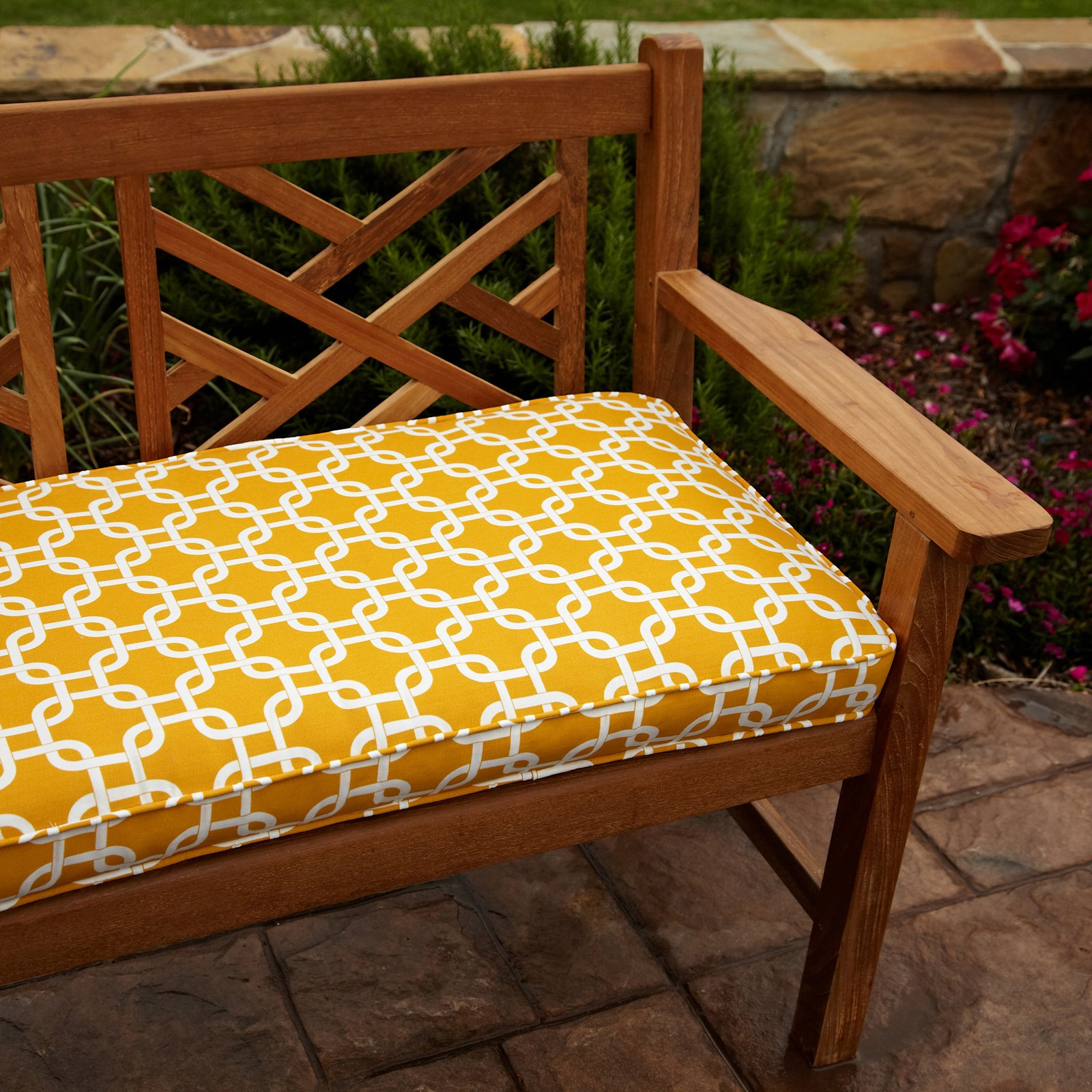 Image of: Yellow Bench Cushions Ikea