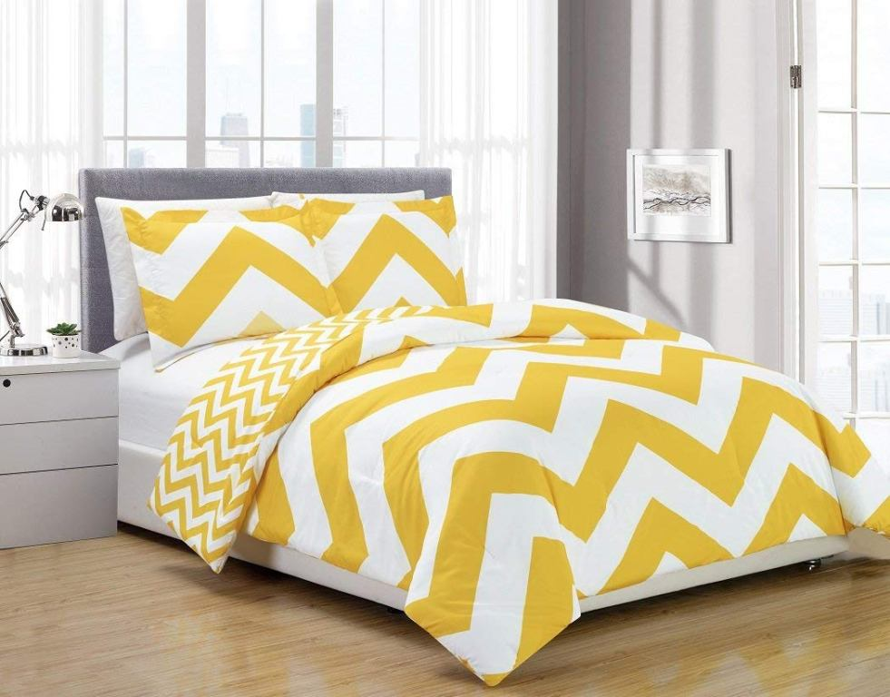 Image of: Yellow King Comforters Set At Bed Bath Beyond