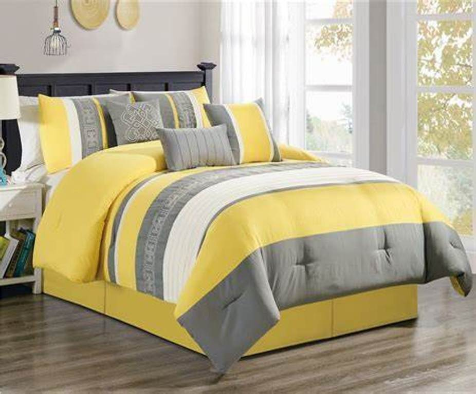 Yellow King Comforter Set In Rooms For Teenagers