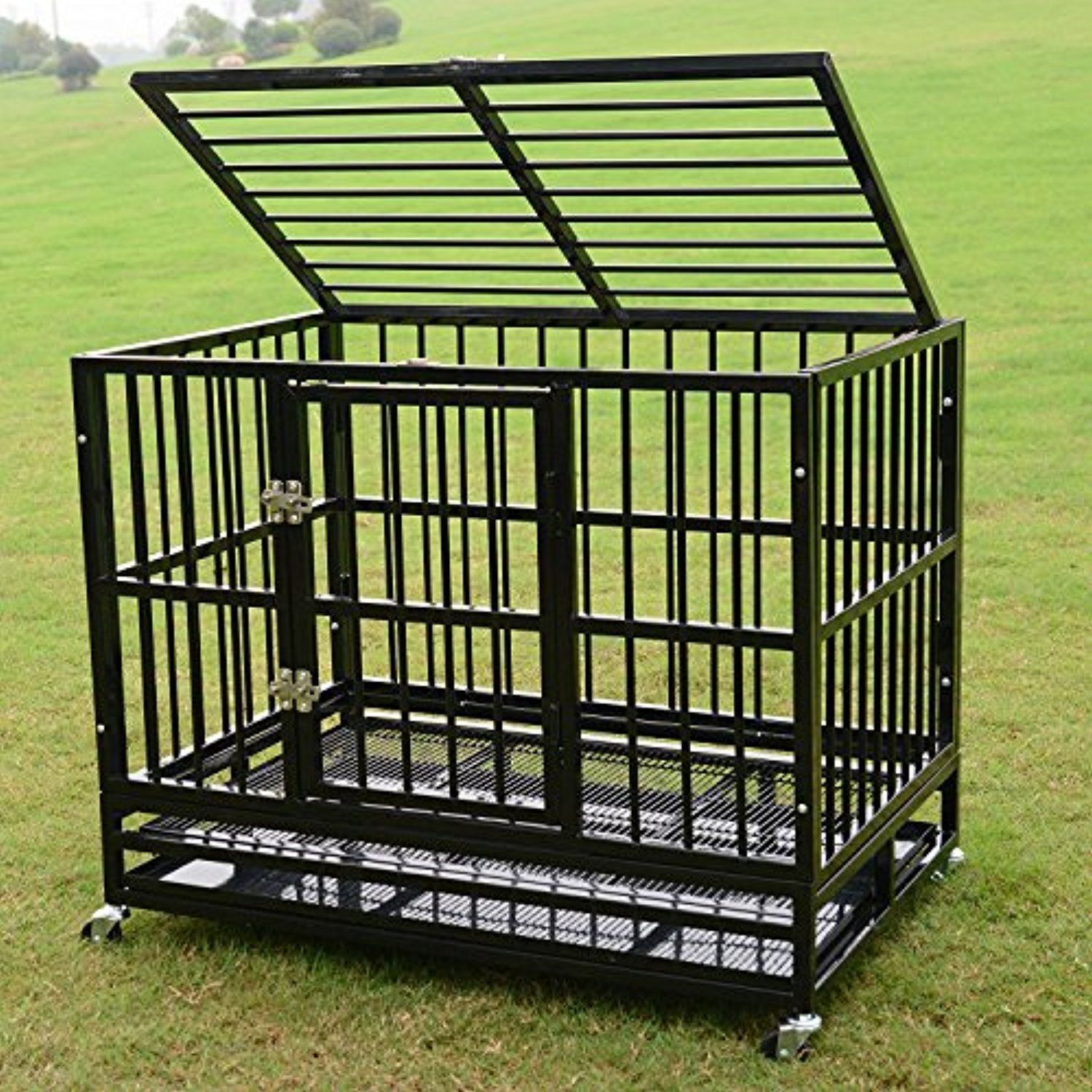 Picture of: On Wheel Metal Dog Fence