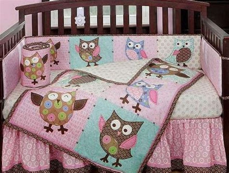 Image of: Baby Owl Bedding For Girls