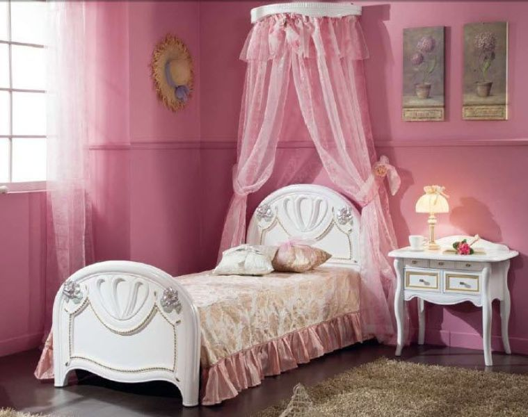 Image of: Canopy Bed For Toddler Girl