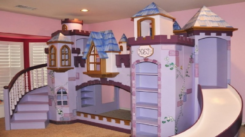 Picture of: Castle Loft Beds For Girls