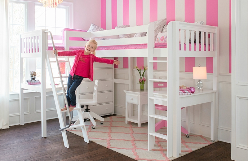 Picture of: High Loft Beds For Girls