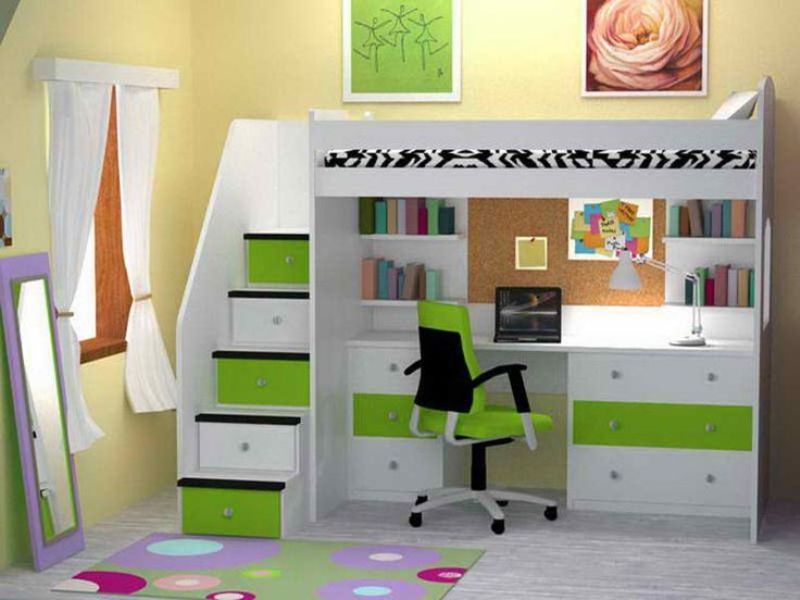 Picture of: Loft Beds For Girls With Desk