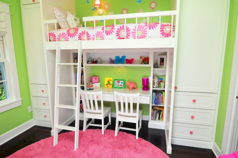 Picture of: Loft Beds With Desks For Girls