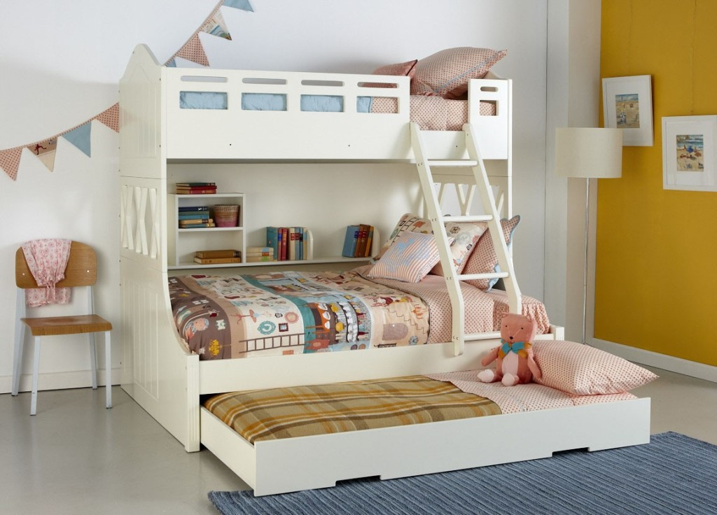 Modern Ark Bunk Bed With Double Bed