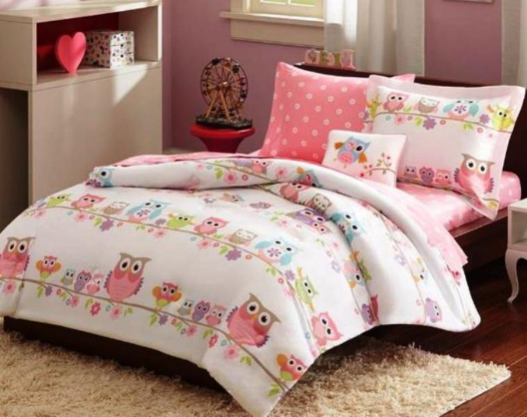 Picture of: Owl Bedding For Girls Full Size