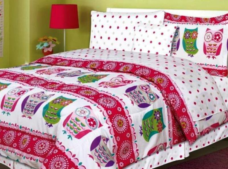 Image of: Owl Bedding For Girls Twin Xl
