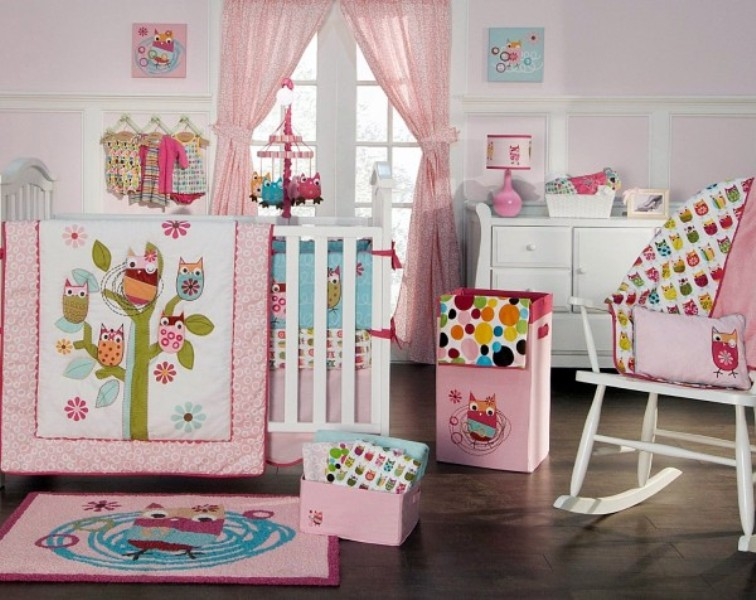 Picture of: Owl Crib Set