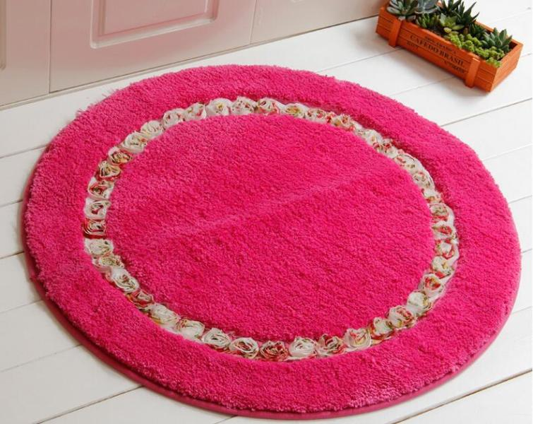 Image of: Round Bath Rugs