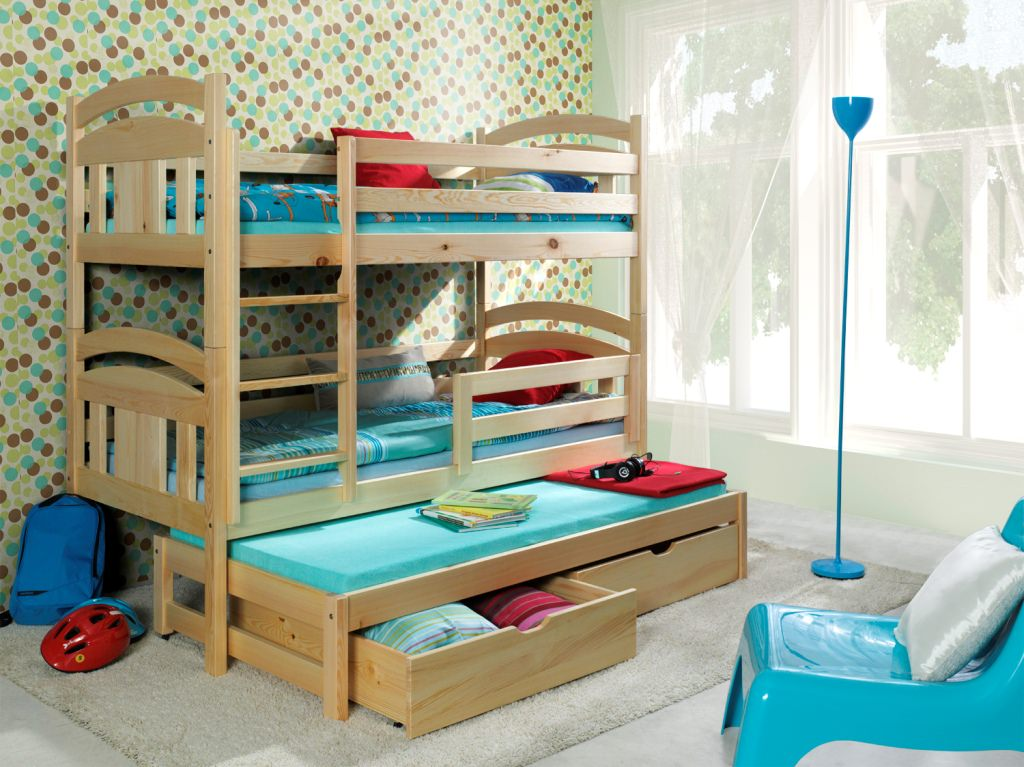Triple Bunk Bed With Trundle