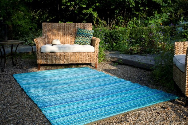 Turquoise Outdoor Rug