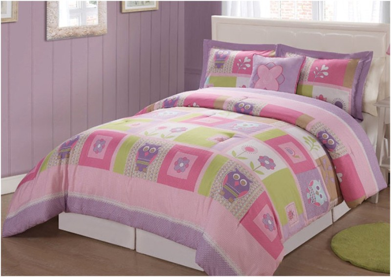 Image of: Twin Size Owl Bedding For Girls