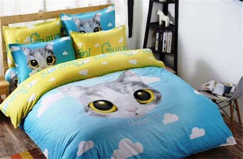 Cute Cat Bedding Set Theme