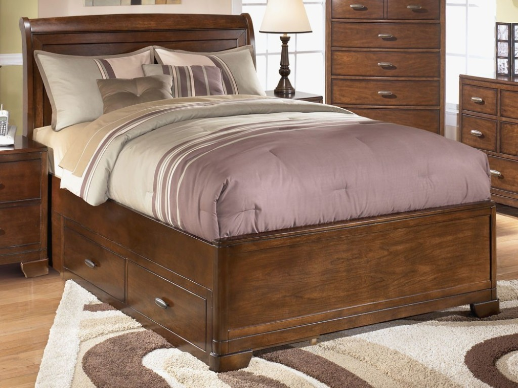 Ashley Sleigh Bed With Storage