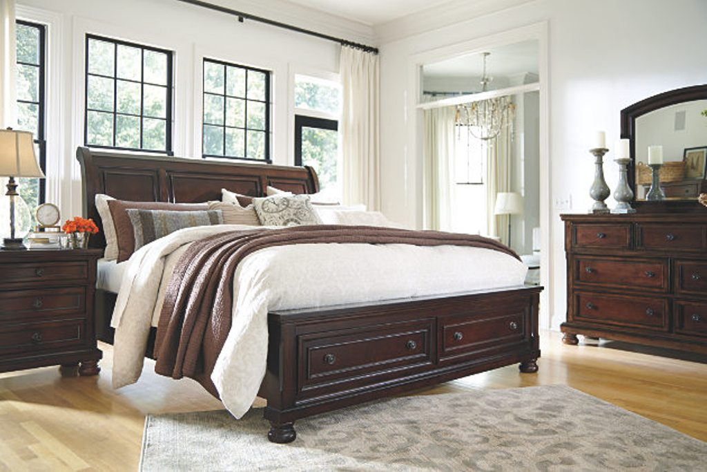 Porter Sleigh Bed With Storage