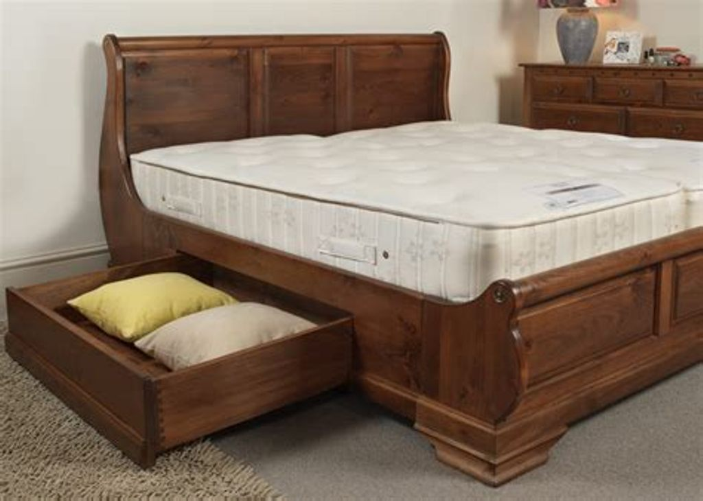 Sleigh Bed With Drawers Underneath