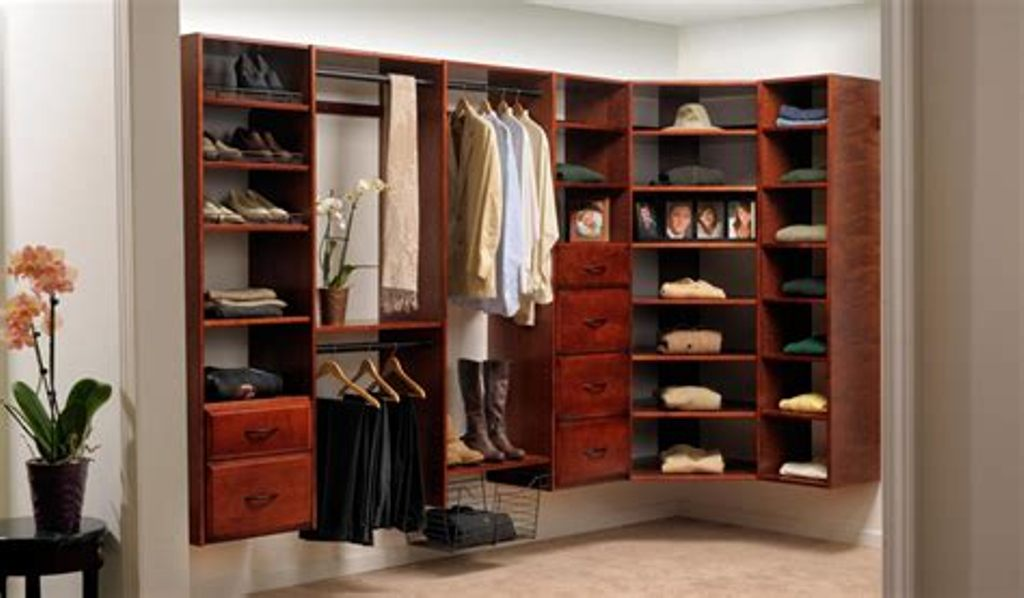 Picture of: Solid Wood Closet Organizers