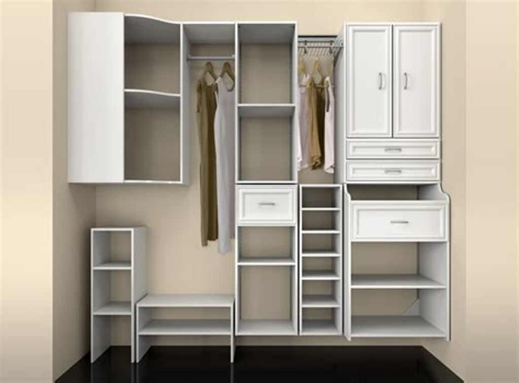Picture of: White Wood Closet Organizers
