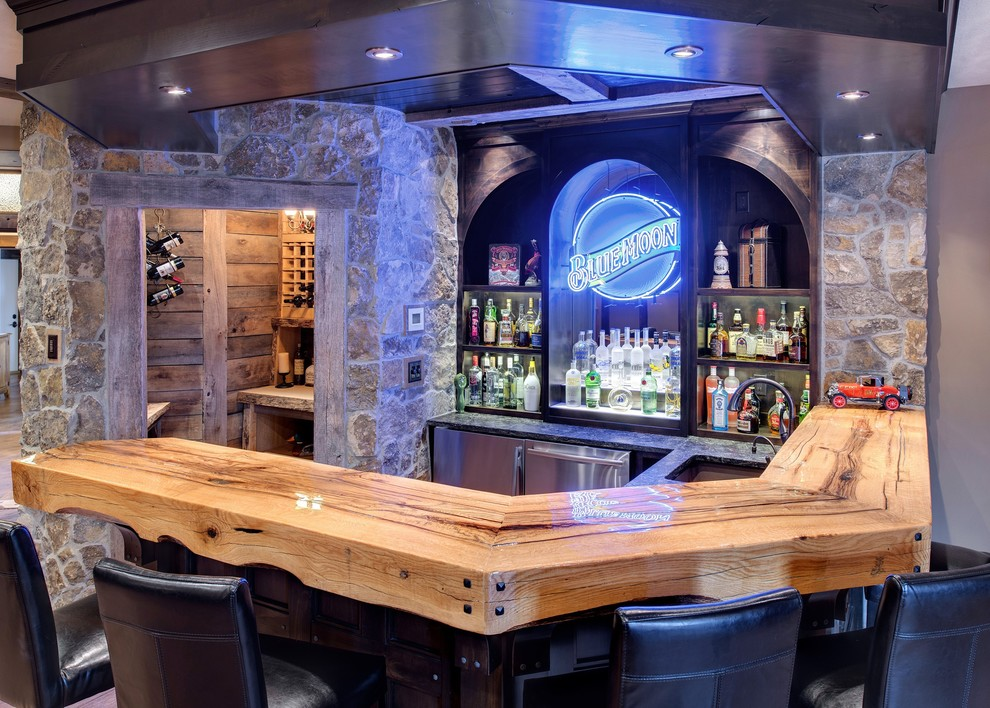 Image of: Awesome Best Basement Bar Designs