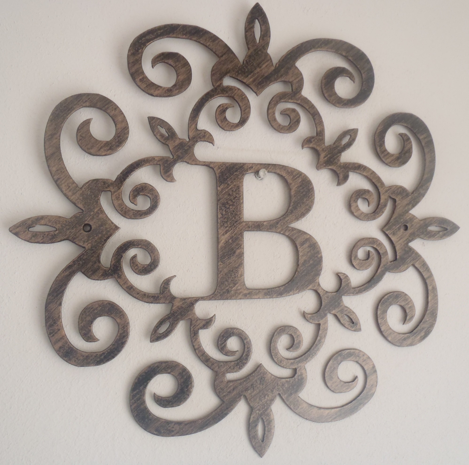 B Large Metal Letters For Wall Decor