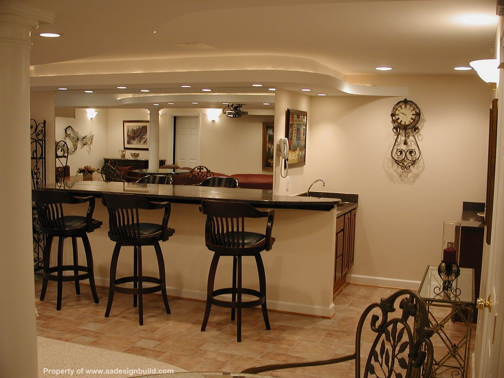 Basement Bar Designs And Layouts