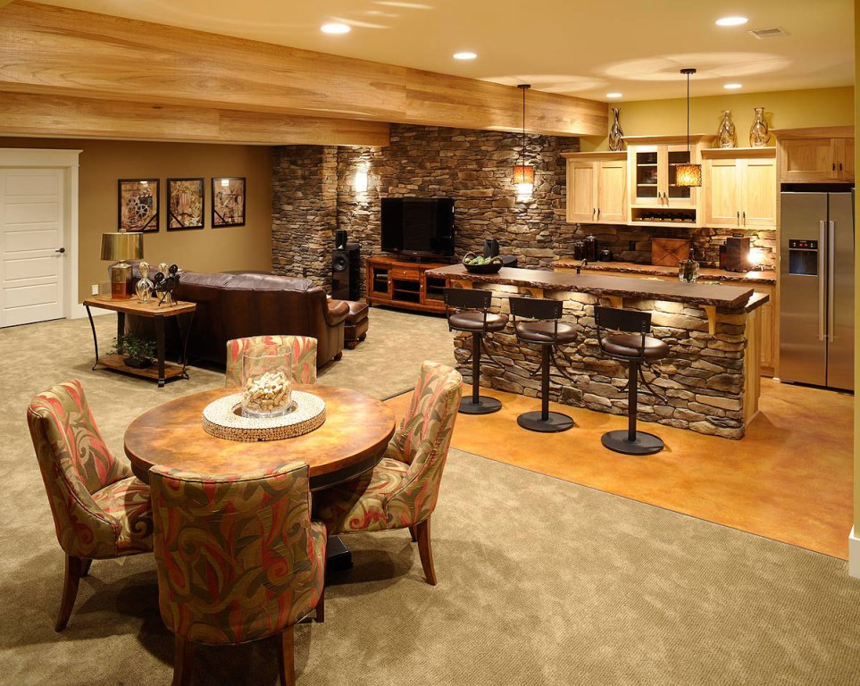 Image of: Basement bar Designs and Plans