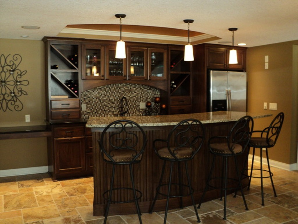 Image of: Basement bar Designs for Small Areas Ideas