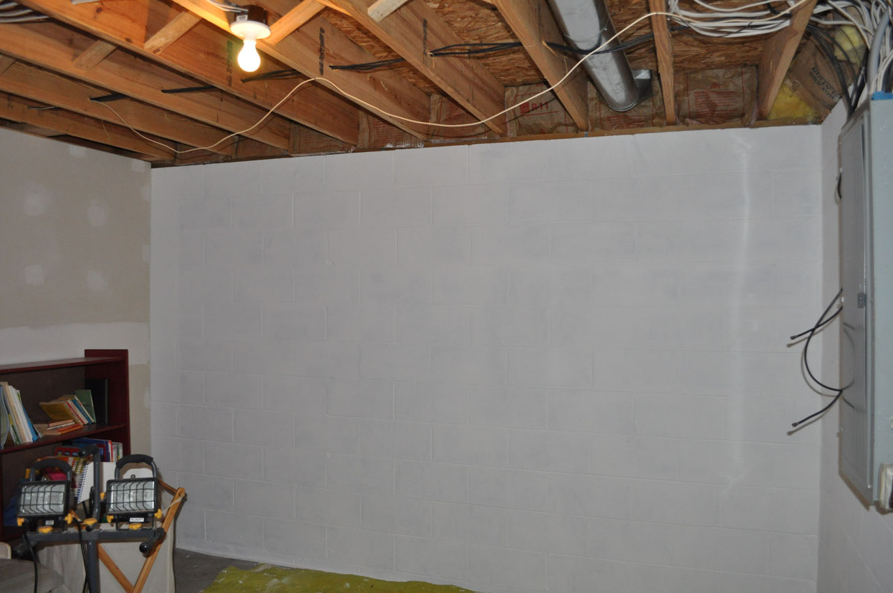 Basement Concrete Wall Paint White