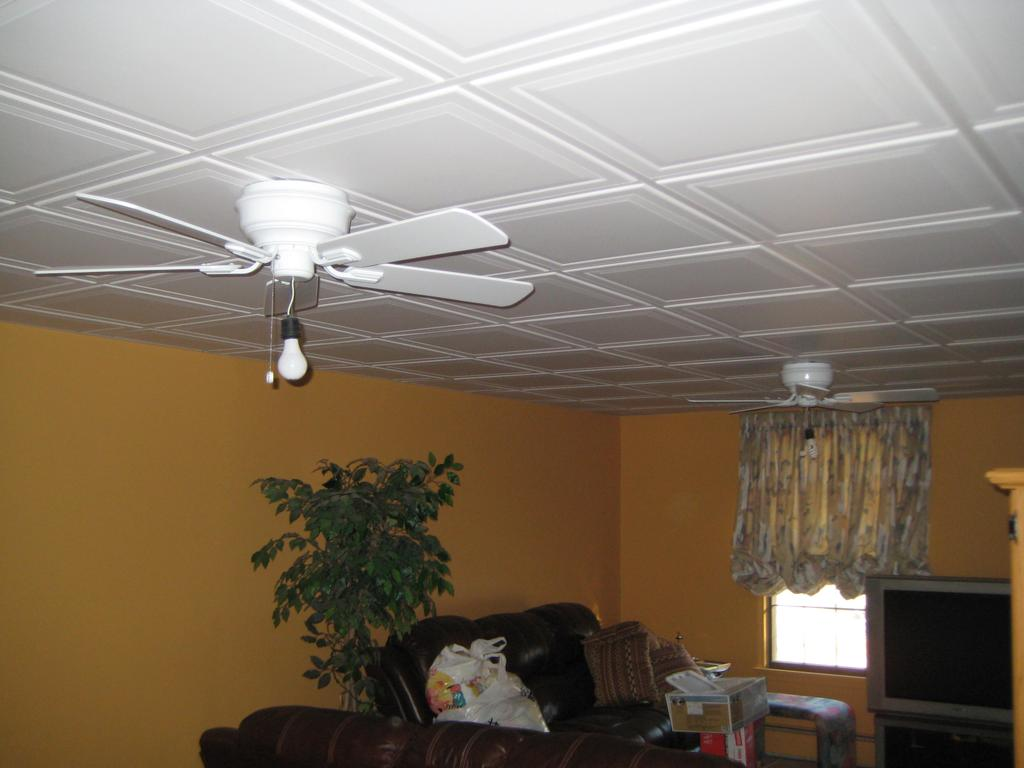 Basement Drop Ceiling Ideas Fan