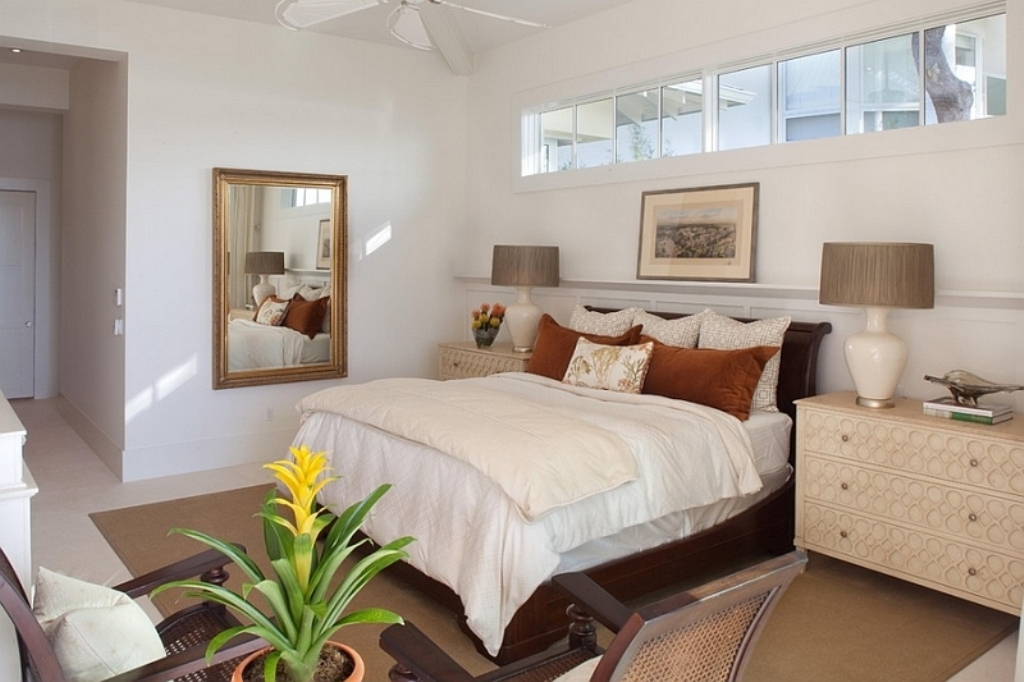 Image of: Basement into Bedroom Ideas Black And White