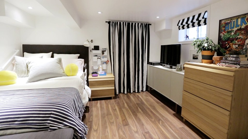 Image of: Basement into Bedroom Ideas for Teens