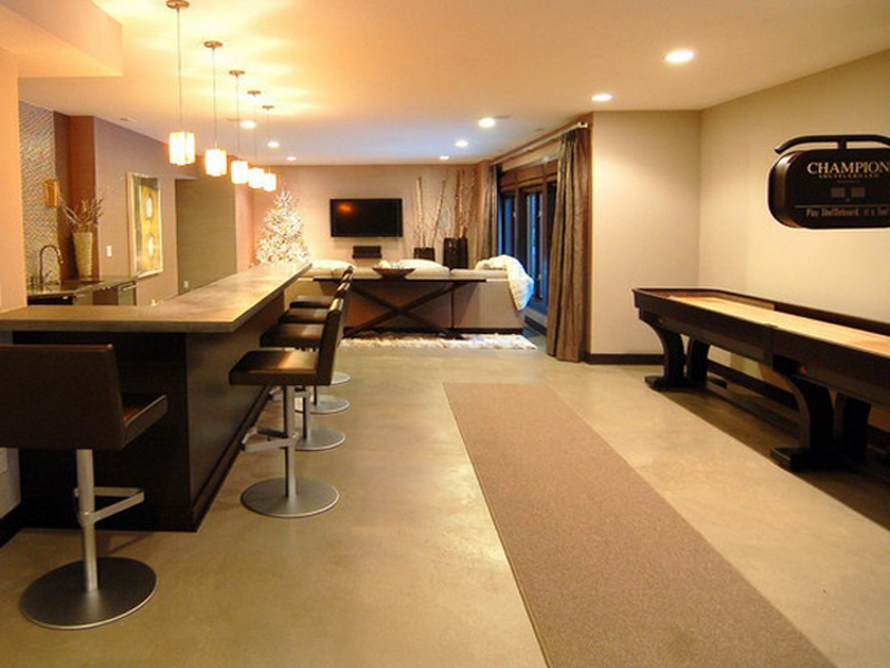 Image of: Basement Remodeling Pictures Lighting