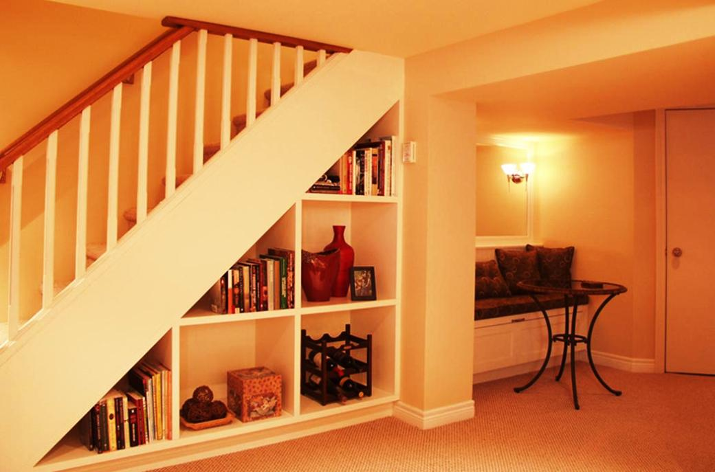 Image of: Basement Stairs Plan